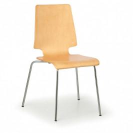 B2B Partner Dřevěná židle TORONTO, přírodní - nosnost 120 kg, 4 ks