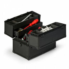 B2B Partner Rozevírací hliníkový kufr na nářadí, 370 x 233 x 278 mm