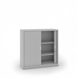 B2B Partner Kovová skříň se žaluziovými dveřmi, 1200 x 1200 x 450 mm, světle šedá