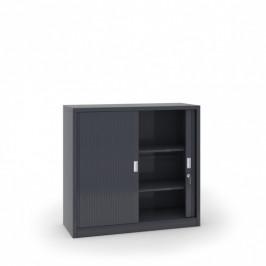 B2B Partner Kovová skříň se žaluziovými dveřmi, 1200 x 1200 x 450 mm, tmavě šedá