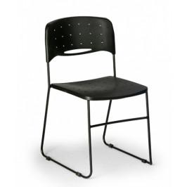 B2B Partner Plastová židle Square, černá/černá