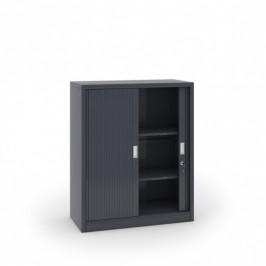 B2B Partner Kovová skříň se žaluziovými dveřmi, 1200 x 1000 x 450 mm, tmavě šedá