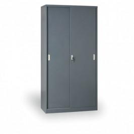 B2B Partner Kovová skříň s posuvnými dveřmi, 1990 x 1000 x 450 mm, tmavě šedá