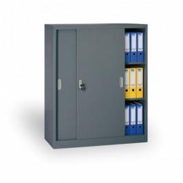 B2B Partner Kovová skříň s posuvnými dveřmi, 1200 x 1200 x 450 mm, tmavě šedá