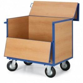 Skříňový vozík s dřevěným istěnami a uzavíratelným víkem