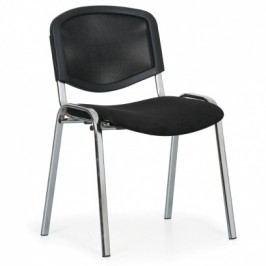 Konferenční židle Viva Mesh - chromované nohy, černá