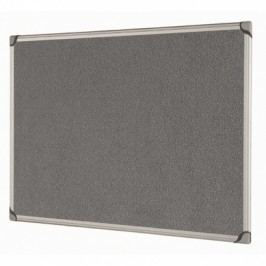Bi-Office Textilní nástěnka, šedá, 900x600 mm