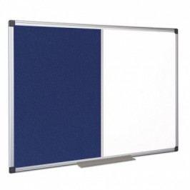 Bi-Office Popisovací magnetická tabule a textilní nástěnka, 900x600 mm