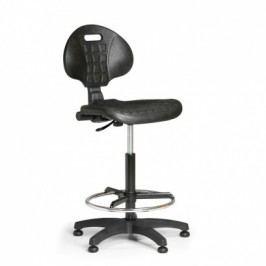 Pracovní židlle PUR, permanentní kontakt, kluzáky