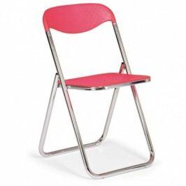 Skládací plastová jídelní židle SÁRA, červená