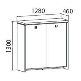 EXNER Skříň dvoudveřová