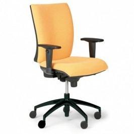 Kancelářská židle Leon, žlutá - ocelový kříž