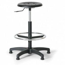 Laboratorní stolička, plastový kříž, černá