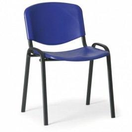 Plastová židle ISO, modrá - konstrukce černá