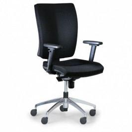 Antares Kancelářská židle Leon PLUS, černá - ocelový kříž