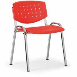 Antares Jednací židle Tony, červená - konstrukce chromovaná