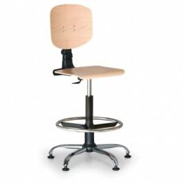 Antares Pracovní dřevěná židle - opěrný kruh, kovový kříž