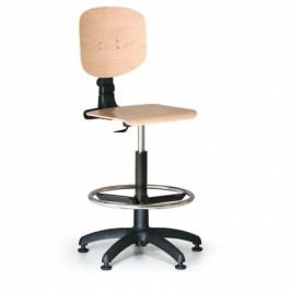 Antares Pracovní dřevěná židle - opěrný kruh, plastový kříž