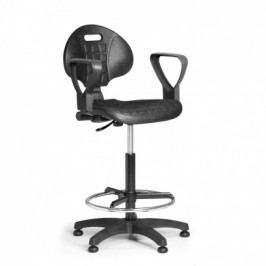 EUROSEAT Pracovní židlle PUR s područkami, permanentní kontakt, kluzáky