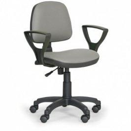 EUROSEAT Pracovní židle Milano s područkami - permanentní kontakt, šedá