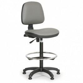 EUROSEAT Pracovní židle Milano - opěrný kruh, šedá
