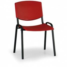 EUROSEAT Konferenční židle Smile, červená - konstrukce černá
