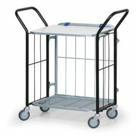 Skládací vychystávací vozík s horní policí, 150 kg
