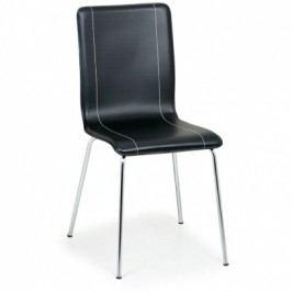 Kožená jídelní židle BLACK