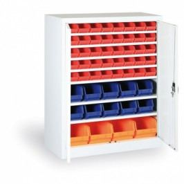 Skříň s plastovými boxy - 1150x920x400 mm, 32xA, 12x B, 4xC
