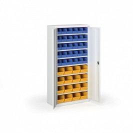 Skříň s plastovými boxy - 1800x920x400 mm, 30x B, 16x C