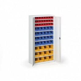 Skříň s plastovými boxy - 1800x920x400 mm, 24xA, 24xB, 12xC