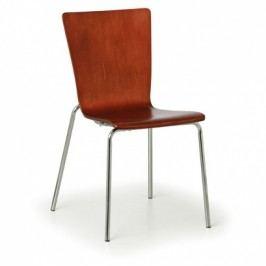 Dřevěná židle CALGARY, ořech - nosnost 110 kg