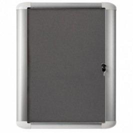 Bi-Office Informační vitrína MASTER, textilní, šedá, 816x688 mm