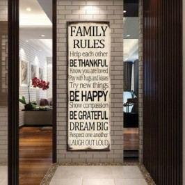 Obraz na plátně, Family rules