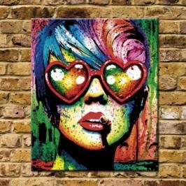 Obraz na plátně, Brýle srdce