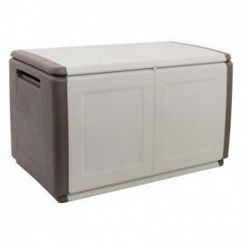 Plastový odkládací box s víkem, 960x570x530 mm, béžový