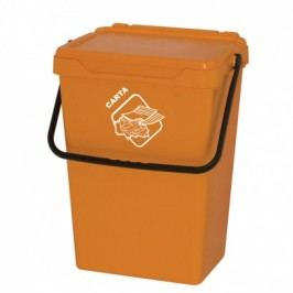 Plastový odpadkový koš, žlutý, 35 l