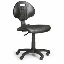 Pracovní židlle PUR, permanentní kontakt, pro měkké podlahy
