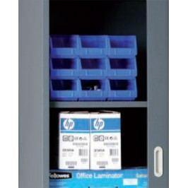 Police pro skříně se žaluziovými dveřmi, 1200 x 450 mm, antracit