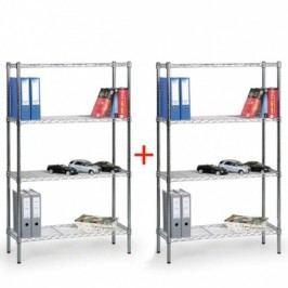 Regál s drátěnými policemi, 1500x900x450 mm 1+1 ZDARMA