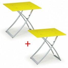 Konferenční stolek se skleněnou deskou Lime 1+1 ZDARMA