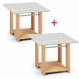 Konfereční stolek se sklem WOODGLASS, malý 1+1 ZDARMA