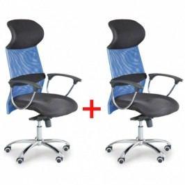 Kancelářské křeslo FLEX 1+1 ZDARMA - modré
