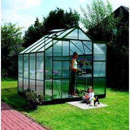 LANIT PLAST, s.r.o. skleník URANUS 6700 zelený PC 4 mm, rozměr 257 x 258 cm, DOPRAVA ZDARMA
