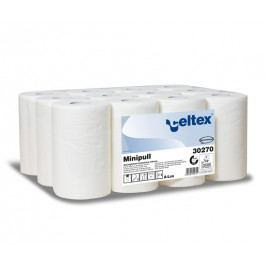Celtex Ručníky Celtex Lux Mini role, papírové, bílé, 12ks, 72m