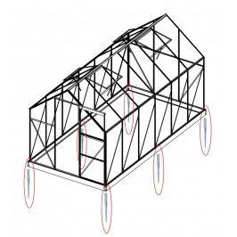 LANIT PLAST, s.r.o. Sada 4 zemní vruty (modely 6x4, 6x6, 2500, 3800)
