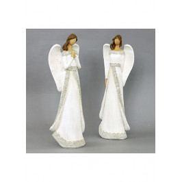 Autronic Anděl, polyresinová dekorace, barva bílá