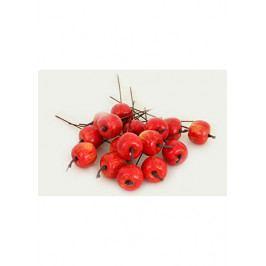 Autronic Jablíčko plastové, červený melír. Cena za balení (16 ks v sáčku)