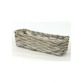 Autronic Truhlík dekorační, štípané dřevo -proutí
