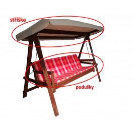 Rojaplast podušky+stříška k houpačce ADELAIDA červená